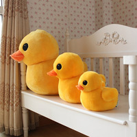80/115cm New Cute small yellow duck Reading Pillow Doll plush toys stuffed animals Accompany Doll Xmas Gift toys for children