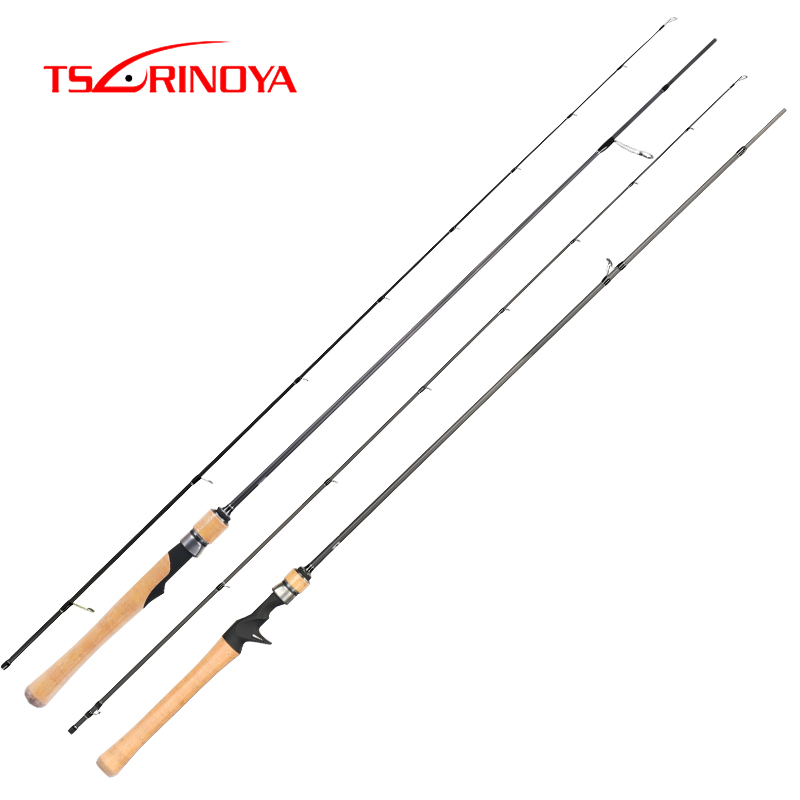 TSURINOYA Fishing Rod DRAGON 2 Sections Cork Handle Light Weight L Power High Sensitive Bait Casting Spinning Carbon Bass Rod