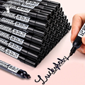 Permanent Farbe Marker Stift Fettige Wasserdicht Schwarz Stift für Reifen Marker Schnell Trocknend Unterschrift Stift Schreibwaren auf