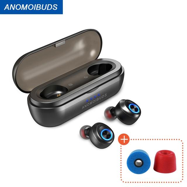 Anomoibudsカプセルプロ50時間プレイタイムaac tws bluetooth V5.0ヘッドホンワイヤレスアンドロイドiphone