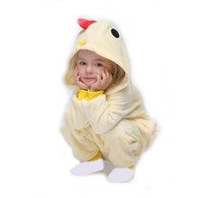 Детский Пижамный костюм кигурумис с мультяшным цыпленком; Детская