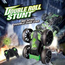 RC Car 2.4G 4CH Stunt Double-sided Bounce Drift Deformation Buggy Car Remote Control Roll Car 360 Degree Flip Kids RC Cars Toys