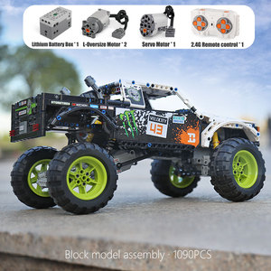 Image 2 - MOC 3320 Technic Car Compatible With 42099 Energy Recoil Baja Truck Building Blocks Assembly Bricks Toys Kids Christmas Gift