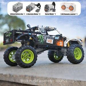 Image 2 - MOC 3320 voiture technique Compatible avec 42099 énergie recul Baja camion blocs de construction assemblage briques jouets enfants cadeau de noël