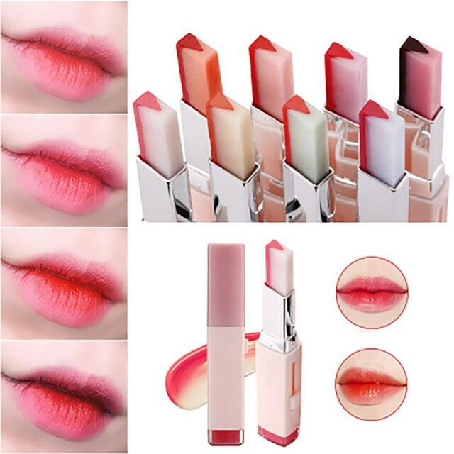 Korean Fashion Bite Lipstick V Cutting Two Tone Tint Silky Long Lasting Moisturzing Nourishing Lipstick Balm Lip Cosmetic Makeup