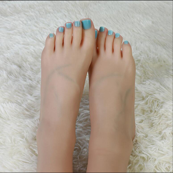 Realistic One Pair Silicone Female Mannequin Dummy Foot ,Fake Feet Model,Free Nail Stickers,Display model Foot fetish