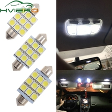 цена на White C5W C10W 5050 SMD 9Led 36mm 39mm 41mm DC 12V Auto LED Festoon Dome Light Door light Reading Lamp Tail Bulb backup Led