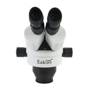Image 2 - 3.5X 7X 45X 90X Simul Focal Trinocular 스테레오 현미경 헤드 연속 줌 WF10X/20MM 접안 렌즈 보조 대물 렌즈