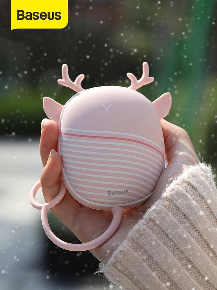 Warmer Heater Lamp Heating-Pad Pocket Handy Mini Rechargeable USB Cartoon Baseus