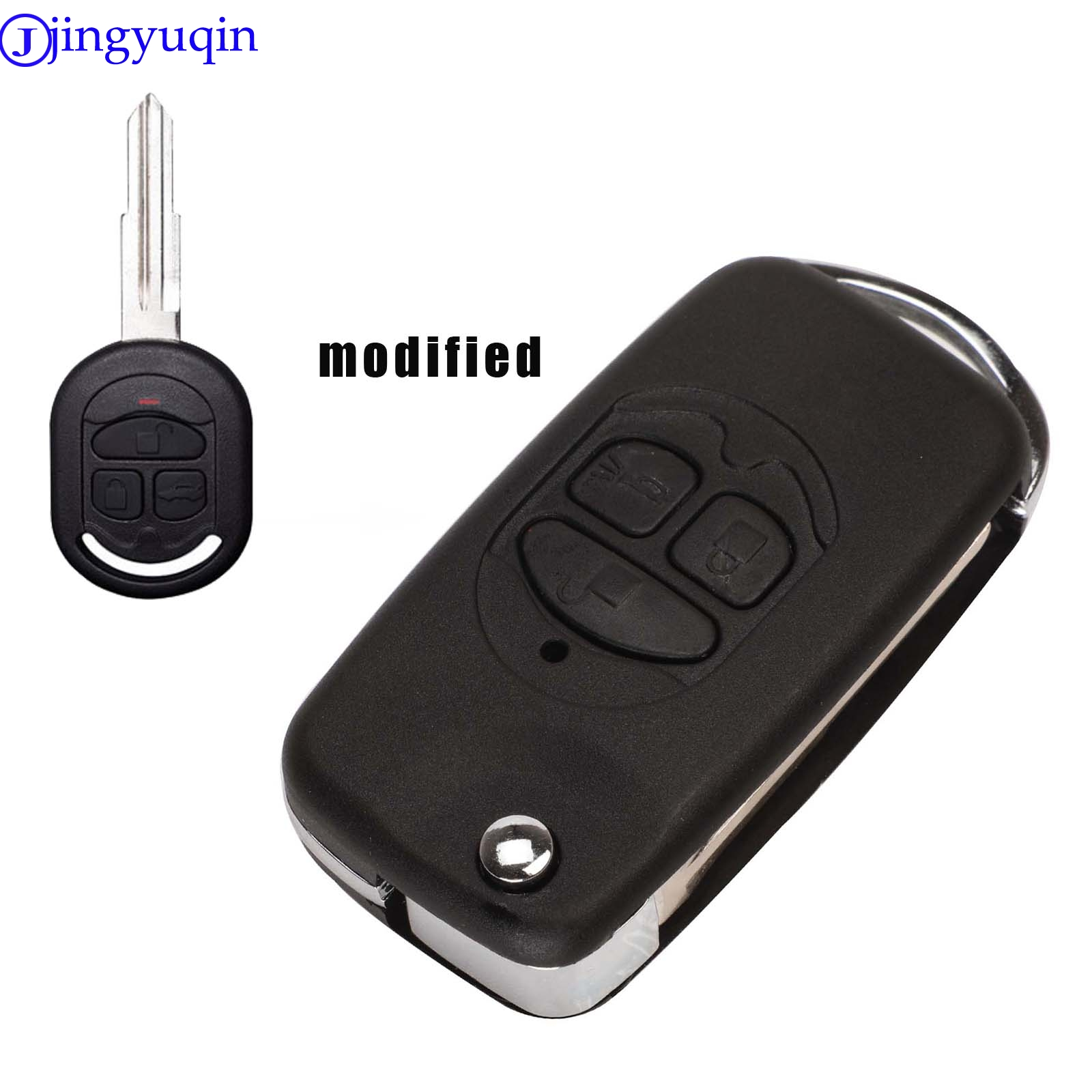 Lmproved folding remote control key case for Chevrolet Lacetti / Optra / Nubira vehicle pocket alarm 2005 2006 2007 2008 2009(China)