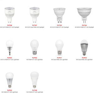 2.4G Mi boxer LED Spot light Various Kinds RGBW RGB+CCT Dual White Bulb Lamp GU10 E27 MR16 4W 5W 6W 9W 12W LED Smart Bulb