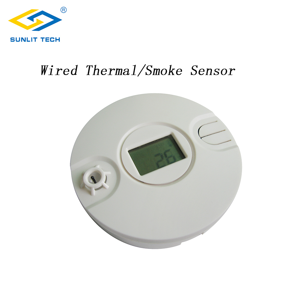 Wired Smoke Thermal Sensor Alarm System For All Alarm Panel Home Fire Heat Thermal Sensor Detector Protection Office Security