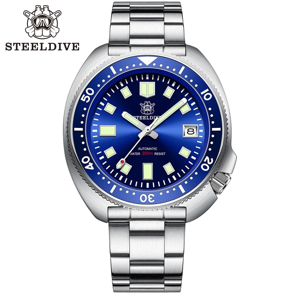Hec077322335342619777e7faffaaf932N SD1970 Steeldive Brand 44MM Men NH35 Dive Watch with Ceramic Bezel
