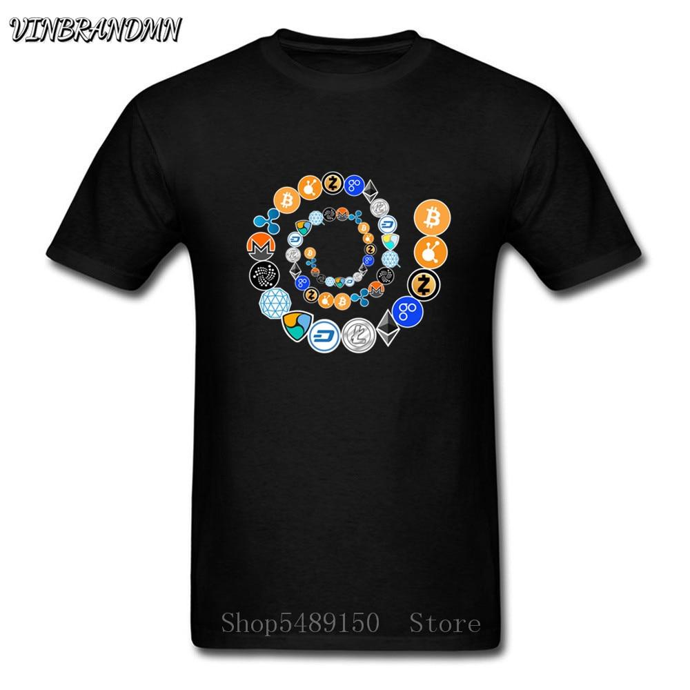 Мужская футболка Cryptocurrency Bitcoin Ripple Peercoin Qura Factom, Крипто-Техническая Футболка