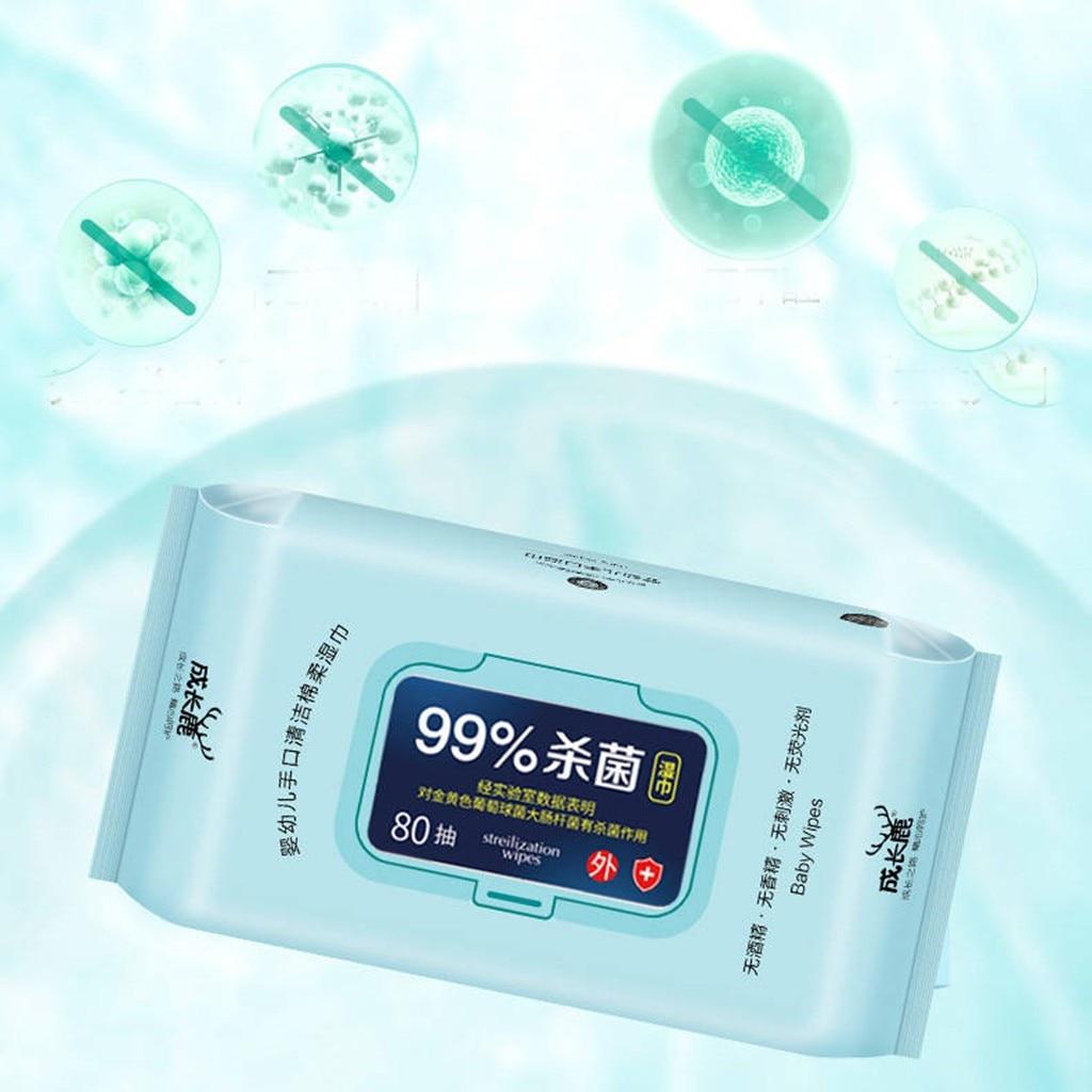 Antibacterial Wet Wipe Tissue Clean Hand Health Care 80 Wipes/pack Cleaner Antibacterial Wet Wipe Prevention Coronavirus 1