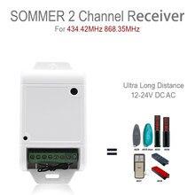 Надежный высокий приемник, усиленный и стабильный сигнал Sommer 434-868 МГц, совместимый приемник 434,4 МГц и 868 МГц, можно заменить