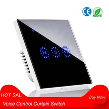 New Voice Control Curtain Switch Smart Wifi Remote Garage Doors Control Touch Switch Curtain Motor Blind Roller Shutter Timing