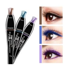 Farbe Mascara Wasserdicht Schnell Trocken Wimpern Curling Verlängerung Make-Up Auge Wimpern Blau Lila Schwarz Kaffee Tinte Mascara TSLM2