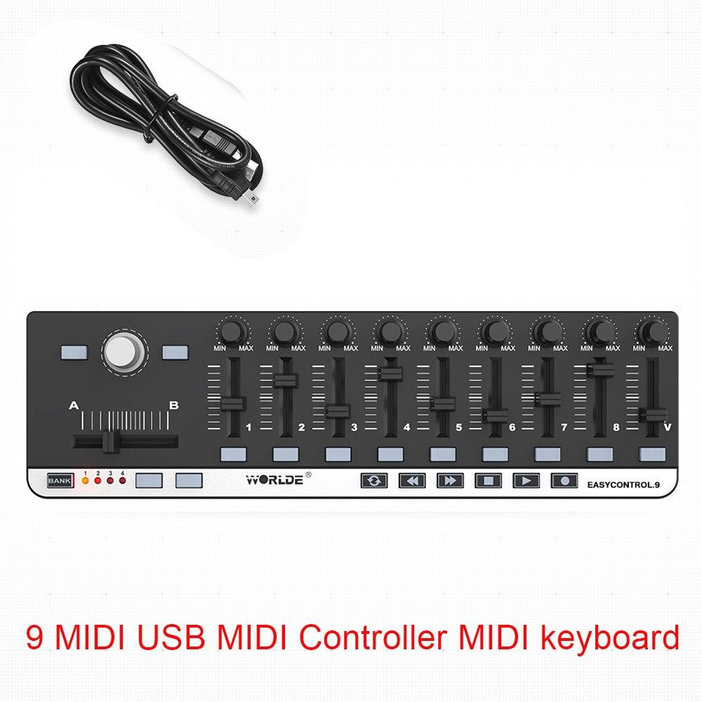 Worlde EasyControl.9 MIDI Controller MIDI keyboard 9 Portable Mini USB 9 Slim-Line Control MIDI Controller MIDI keyboard