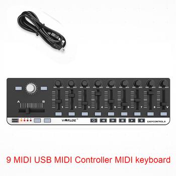 Worlde EasyControl 9 kontroler MIDI klawiatura MIDI 9 przenośne Mini USB 9 kontroler Slim-Line kontroler MIDI klawiatura MIDI tanie i dobre opinie CN (pochodzenie) Worlde EasyControl MIDI Controller MIDI keyboard 9 knobs + 9 sliders + 9 buttons MIDI Slim-Line Controller USB Cable
