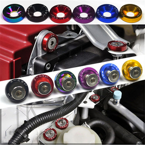 Image 3 - 10pcs M6 JDM Car Modified Hex Fasteners Fender Washer Bumper Engine Concave Screws Car styling