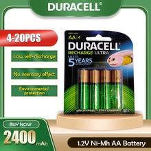 4-20 pièces Duracell 1.2V 2400mAh AA NI-MH batterie Rechargeable pour caméra Gamepad lampe de poche télécommande pré-chargée AA batterie