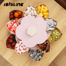 Multifunctional ABS Storage Box For Seed Nut Candy Dry Fruit Case Plum Type Lunch Container For Kid Protect Fruit Case Organizer