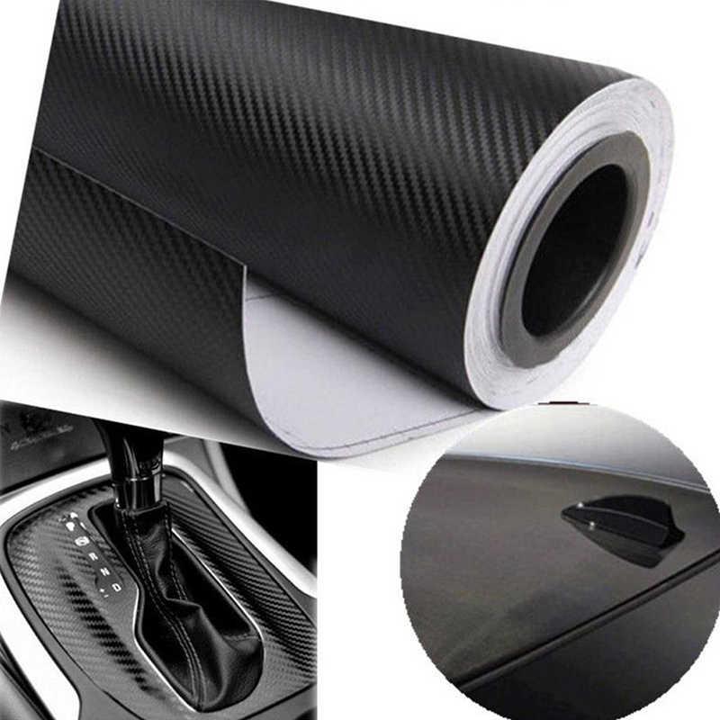 คาร์บอนไฟเบอร์ไวนิลกันน้ำ 4D รถ Wrap แผ่นม้วนฟิล์มสติกเกอร์รถยนต์สติ๊กเกอร์รถจักรยานยนต์รถจัดแต่งทรงผมอุปกรณ์เสริม 152*30 ซม.