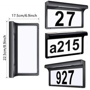Image 3 - Güneş ışığı LED ev numarası ışık ev kapı numarası adres plak lambası su geçirmez kablosuz Sunpower bahçe kapı dekoratif lamba