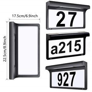 Image 3 - Lampa słoneczna domek z podświetleniem LED numer podświetlany drzwi do domu numer tablica adresowa lampa wodoodporna bezprzewodowa lampa ogrodowa Sunpower dekoracja do drzwi