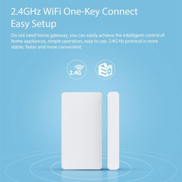 Tuya Smart WiFi Door Sensor Detector Door Window Open/Closed Detectors App Notification Alarm Support Alexa Google Home 3