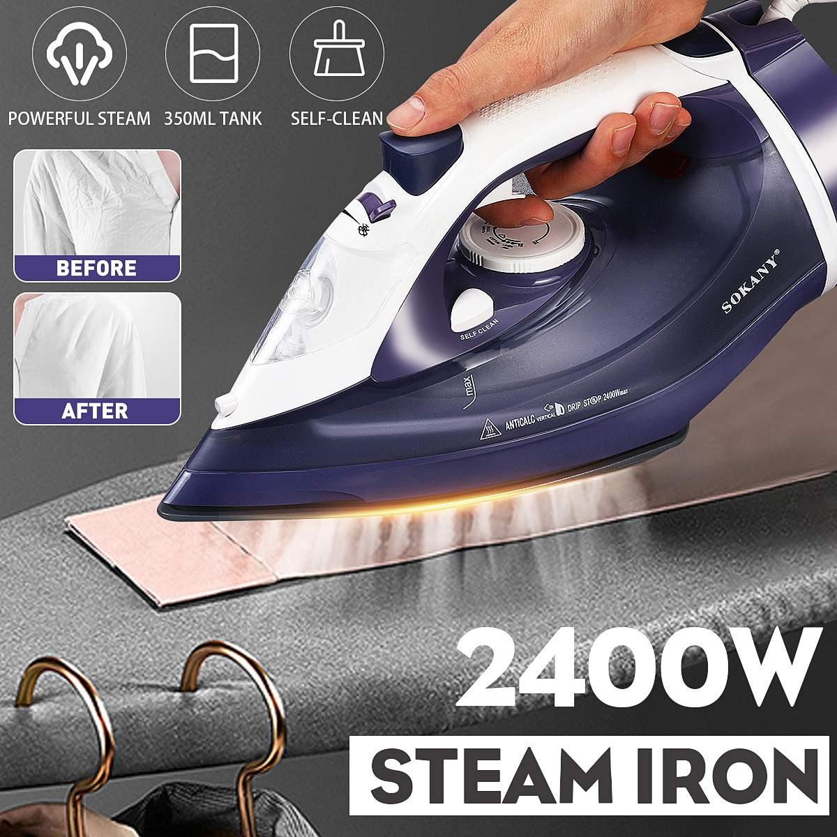 2400W sans fil électrique fer à vapeur 2 en 1 céramique semelle vêtement vapeur voyage maison fer à repasser Machine nouveauté 2020