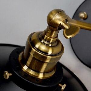 Image 5 - Nowoczesne Vintage Loft metalowe podwójne głowice kinkiet Retro mosiądz kinkiet styl ludowy E27 Edison kinkiet lampa oprawy 110V/220V