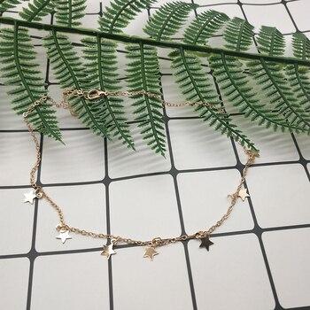 Women Gold Silver Chain Star Choker Necklace Collana Kolye Bijoux Collares Mujer gargantilha Collier Femme 4