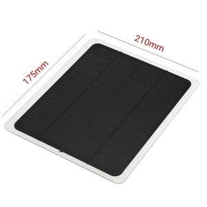 Image 5 - 20W 12V podwójne wyjście Panel słoneczny z ładowarką samochodową + 10/20/30/40/50A kontroler ładowarki słonecznej USB na zewnątrz Camping LED Light