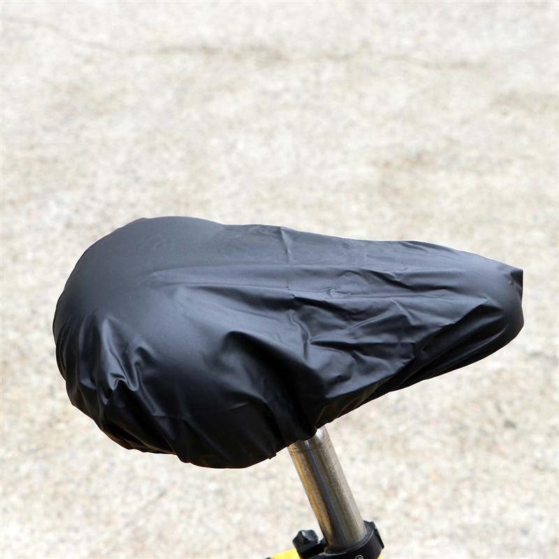 2 PCS Bike Seat Cover Waterproof Bicycle Saddle Plastic Elastic Rain Protective