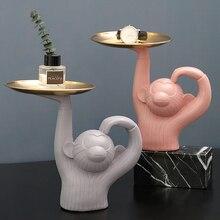 Обезьяна лоток для хранения косметики коробка для ювелирных изделий коробка для конфет туалетный столик кухня ванная комната поднос для хранения мелочей украшение дома подарок