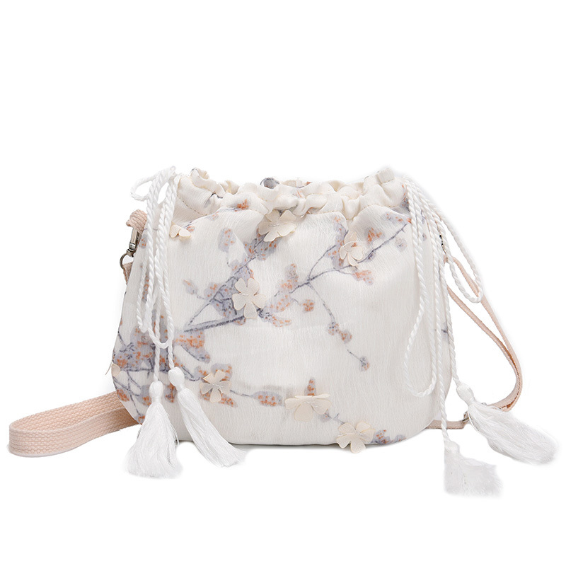 Female Bag New Fashion Spring And Summer Small Bag Chinese Style Fairy Purse Hanfu Embroidery Ancient Wind Messenger Bag Female