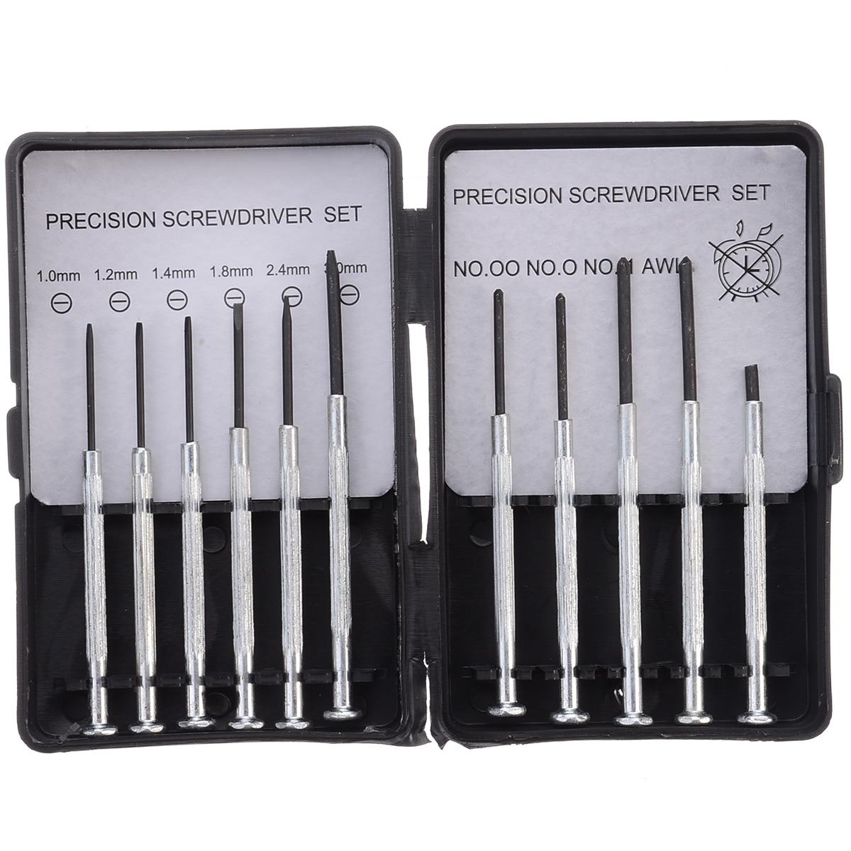 11pcs Precision Screwdriver Set Mini Jewelry Glasses Watch Clock Screwdrivers Repair Hand Tool Kit