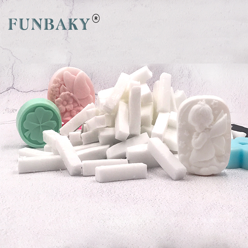 FUNBAKY DIY Hand Making Soap Making Bases Raw Material Whitening Cleansing Skin Transparent White Soap Base