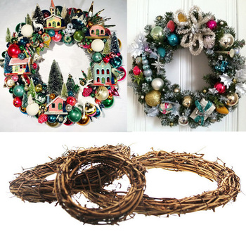 Christmas Home Decoration Ornaments Hanging Ball Wreath Rattan Pendant Garland Christmas Tree Door Decor New Year 2021 Navidad christmas decoration set pink let it snow kit paper snowflake fans navidad new year ornaments new