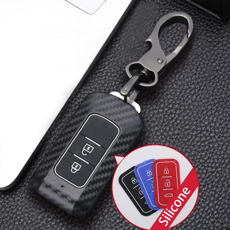 Z włókna węglowego ABS obudowa kluczyka do samochodu pokrywa dla MITSUBISHI OUTLANDER 3 Lancer 10 L200 ASX Colt Pajero sport ECLIPSE krzyż z pęku kluczy
