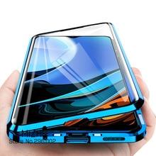 Redmi için 9 T 360 manyetik kapak kılıfları xiaomi Redmi için 9 T 9 T T9 xiaomi xiaomi Redmi9T çift taraflı cam telefon kapak Coque