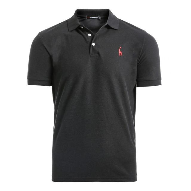 NEGIZBER New Man Polo Shirt Mens Casual Deer Embroidery Cotton Polo shirt Men Short Sleeve High Quantity polo men 2