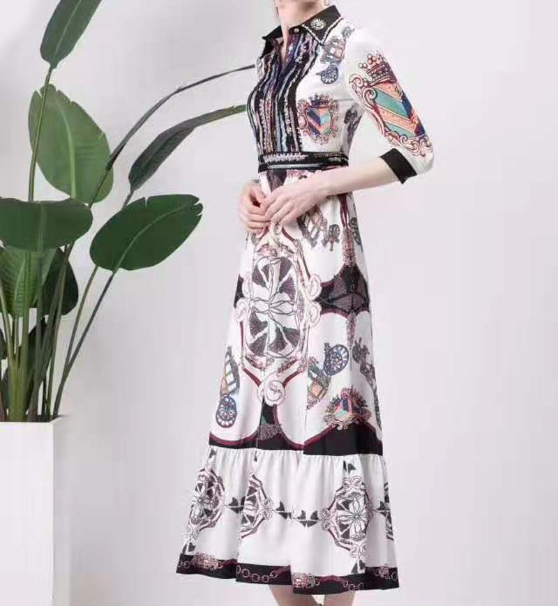 Одержимый лавандой. Новые платья, принты, этнические стили, осень, женская одежда, узоры, талия, элегантные вечерние - 3
