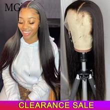 Perruque Lace Frontal Wig naturelle péruvienne Remy, cheveux lisses, HD, 13x4, 4x4, avec Closure, pour femmes africaines
