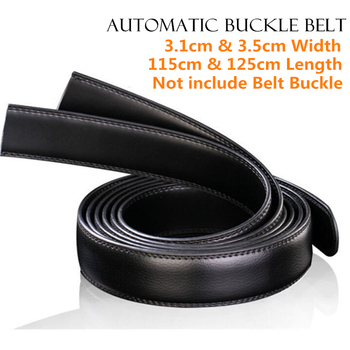 20pcs 3.1cm 3.5cm Width Men Genuine Leather Belts Waistband,100% Real Cowhide Straps,Automatic Buckle Belt,without Belt Buckle diy belt genuine leather without buckle replace belt cowskin leather belt body pure color smooth buckle cowhide waistband