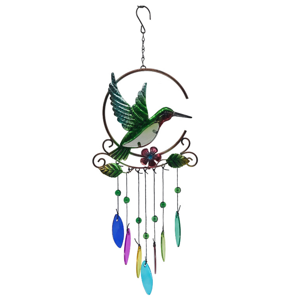 Party Garden Hanging Ornament Colorful Metal Home Decor Wedding Large Pendant Nordic Balcony Nursery Outdoor Peacock Wind Chime