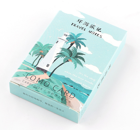 52mm*80mm Tree Sea Paper Greeting Card Lomo Card(1pack=28pieces)