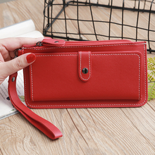 Women Wallet Fashion PU Leather Magnetic Closure Stylish Fem